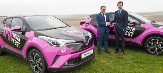 SPINI Team's stylish new Toyota C-HR fleet