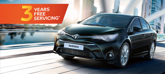 3 Years Free Servicing on a new Avensis until June 30th
