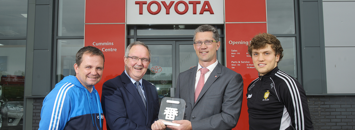 Toyota Honours Cummins Car Centre Ennis with European Customer Satisfaction Award