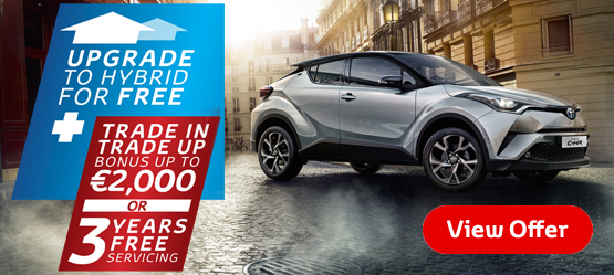 Drive a 181 C-HR from €26,895* or €255 per month**