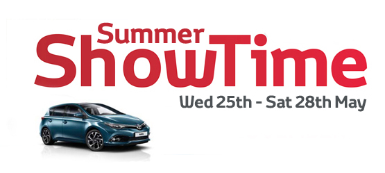 Toyota's Summer ShowTime Event May 25th to 28th