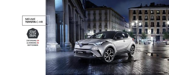 De Toyota C-HR in exclusiviteit onthuld in Antwerpen