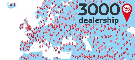 « European network of over 3000 dealerships »