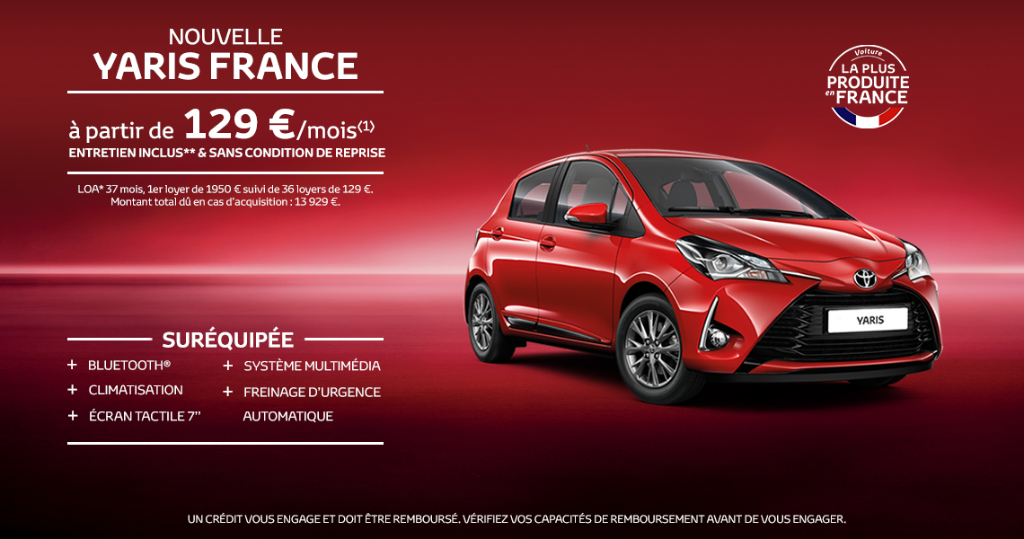Nouvelle Toyota Yaris France