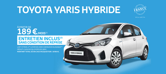 Toyota Yaris Hybride France