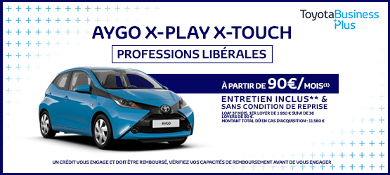 Toyota AYGO x-Play x-Touch Professions Libérales