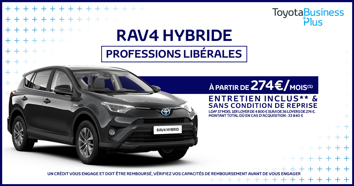 toyota rav4 hybride offre sp ciale professions lib rales. Black Bedroom Furniture Sets. Home Design Ideas