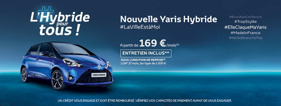 offre promo toyota yaris hybride toyota made in france. Black Bedroom Furniture Sets. Home Design Ideas