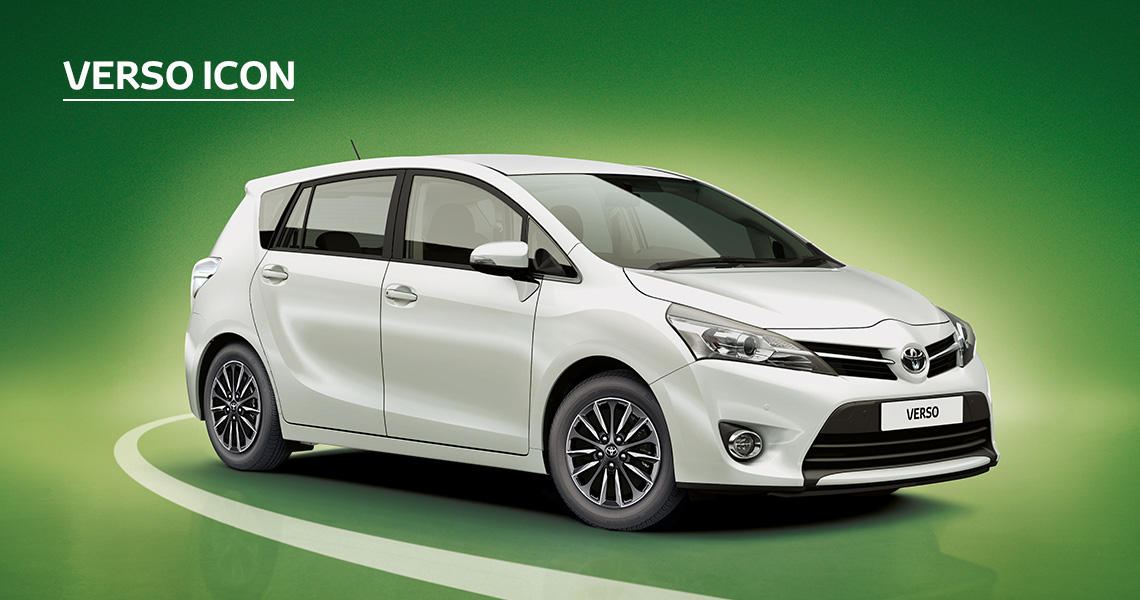 Verso Icon inc Toyota Safety Sense with £95 advance payment (Motability Users Only).