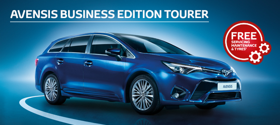 Avensis Touring Sports Business Edition from £163 + VAT per month† (Contract Hire)