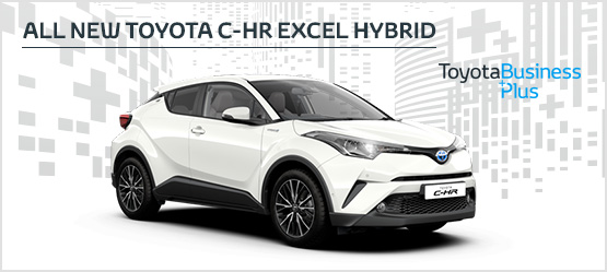 All New Toyota C-HR Excel Hybrid </br> £219 + VAT per month* (Non-Maintained Contract Hire)
