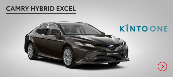 Camry Hybrid Excel £286 + VAT per month* (Customer maintained)