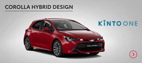 Corolla Hybrid Design £224 + VAT per month* (Customer maintained)
