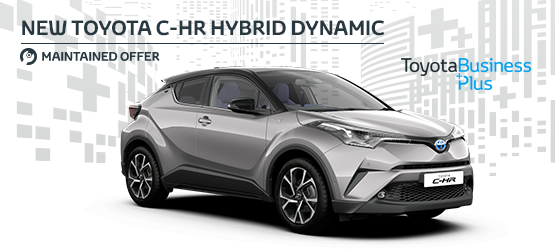 New Toyota C-HR Hybrid Dynamic with leather  £257 + VAT per month* (Maintained Contract Hire)
