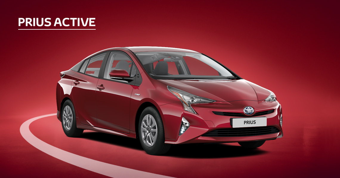Prius Active inc Toyota Safety Sense £1695 advance payment (Motability Users Only).