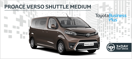 PROACE VERSO Shuttle Medium £209 + VAT per month* (Customer maintained)