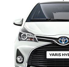 Toyota Yaris, exterior front view, White in white background