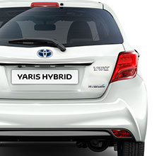 Toyota Yaris, exterior back view, White, white background