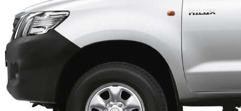 Hilux 4x4, Silver exterior, side view, white background