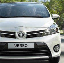 Toyota Verso exterior, front view, White