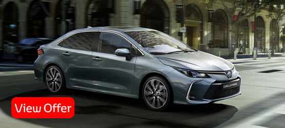 All-new 2019 Corolla Saloon Petrol from €26,920 or from €221 per month**