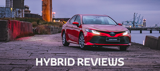 Toyota Auris range with Hybrid Reviews text