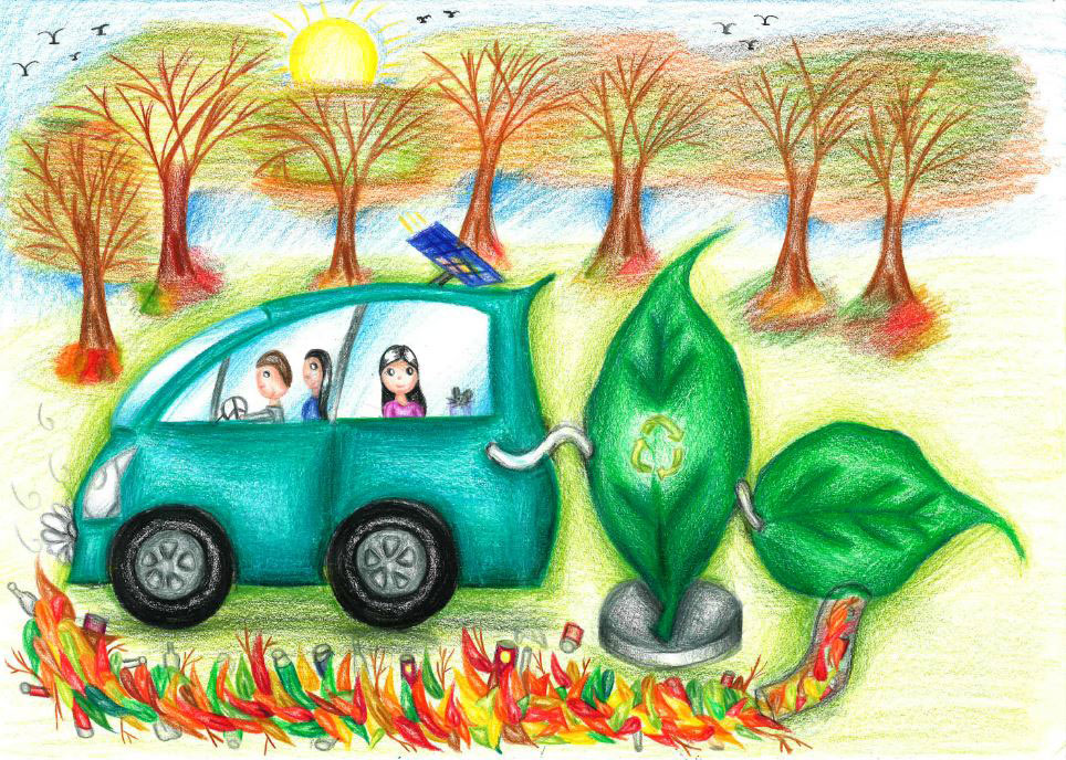 Dream Car Art - Solar & Wind Powered Car
