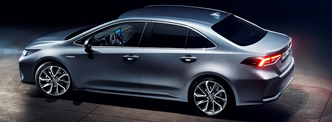 the corolla saloon self charging hybrid has finally been unveiled in china