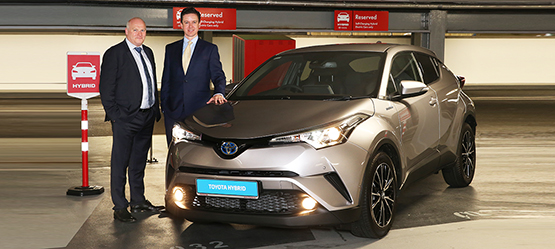 Toyota & Q-Park Team Up to Create  Hybrid-Only Parking Spaces