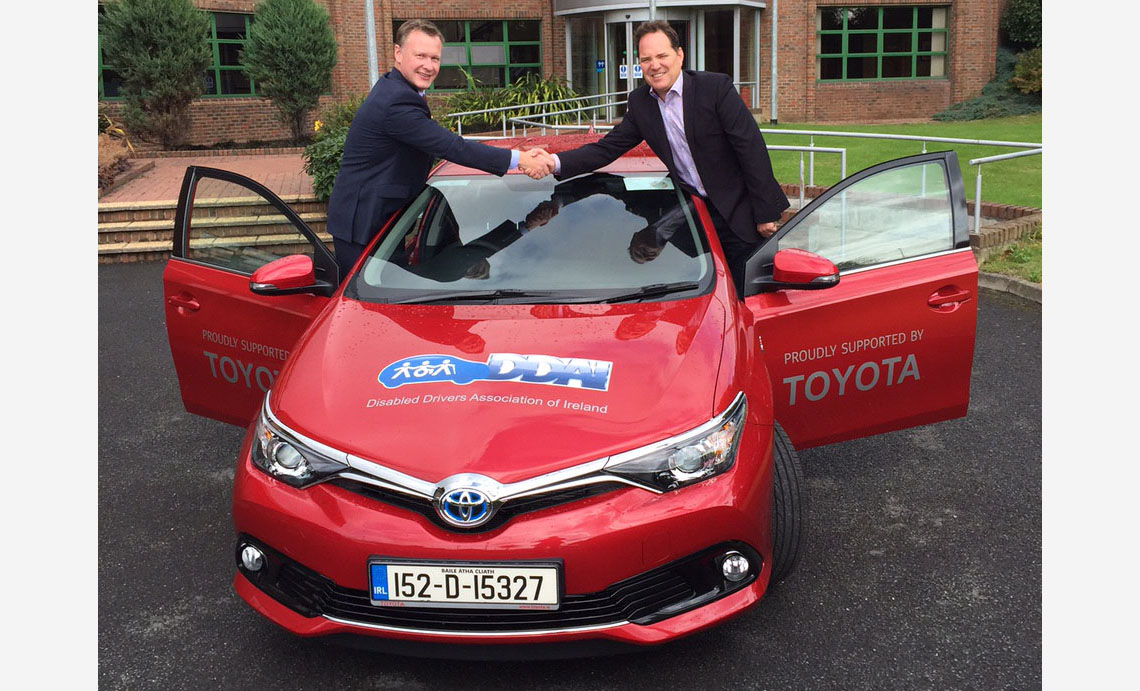 ... pictured above cathal ryan fleet sales manager and ken fox ceo disabled drivers ociation of ireland · toyota yaris hybrid ...