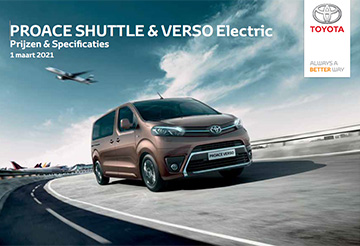 PROACE Electric - PROACE VERSO ELECTRIC Prijzen en specificaties