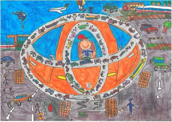 Третє місце:  Від дилерського центру Тойота Центр Автоарт, м. Харків  Бастажиян Георгій, 6 років